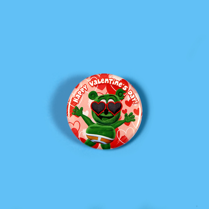 Gummibär (The Gummy Bear) Valentine's Day Button