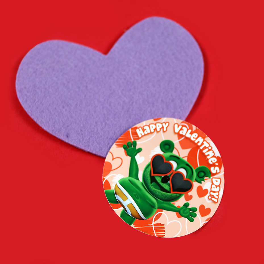 Gummibär (The Gummy Bear) Valentine's Day Sticker