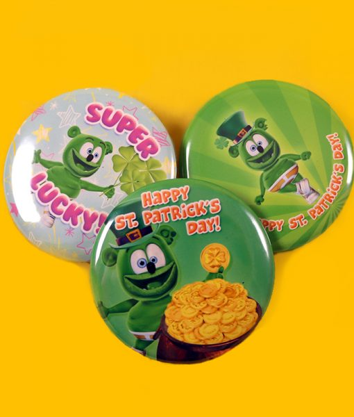 st patricks day stickers buttons gummibar the gummy bear