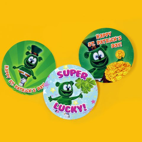 st patrick's day gummibar sticker set