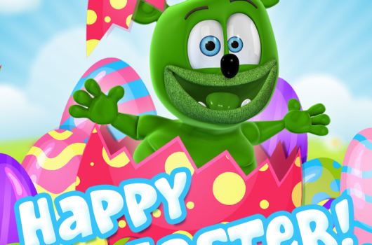 happy easter gummibar easter 2018 the gummy bear song i am a gummy bear ima gummybear international youtube youtuber easter bunny animated animation cartoon character kids show