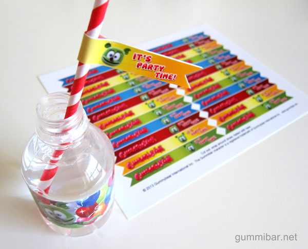 Gummibär Straw Flags