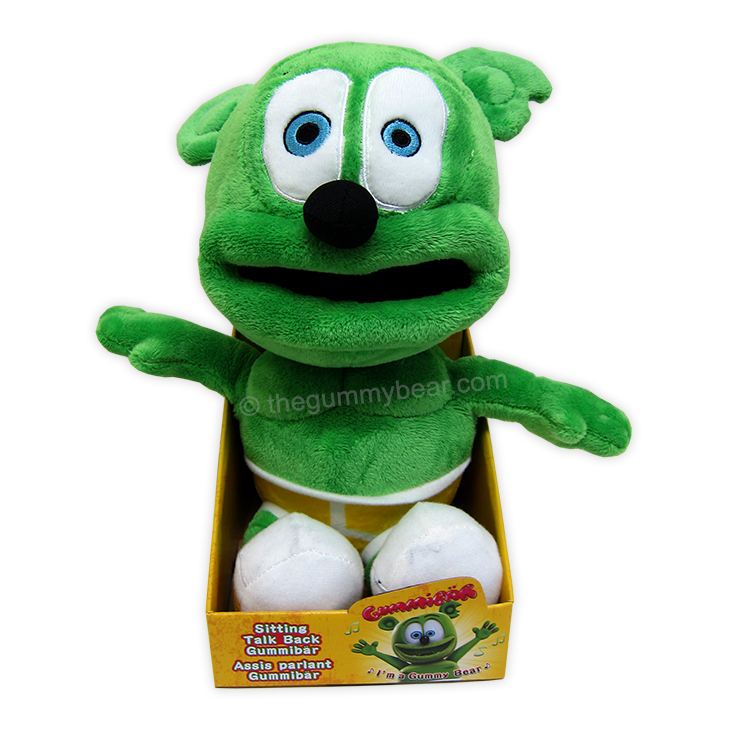 Gummibär (The Gummy Bear) Sitting Talk-Back Plush Toy