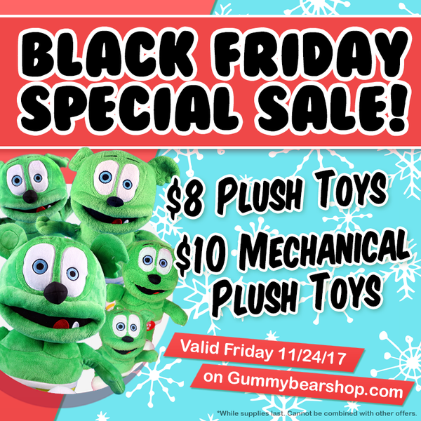 black friday 2017 gummibar shop sale gummibär the gummy bear song i am a gummy bear plush toys mechanical plush toys ima gummy bear son kids childrens holiday christmas stuffed animals sale discounts