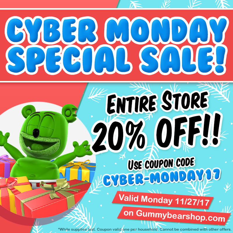 cyber monday gummibar shop holiday sale deals coupons discounts kids childrens holiday gift guide