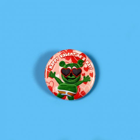 gummy bear valentine's day button gummibär