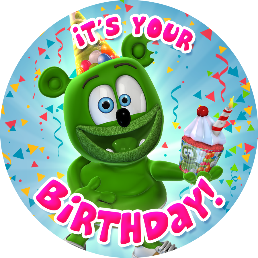 Gummibär (The Gummy Bear) It's Your Birthday! Sticker