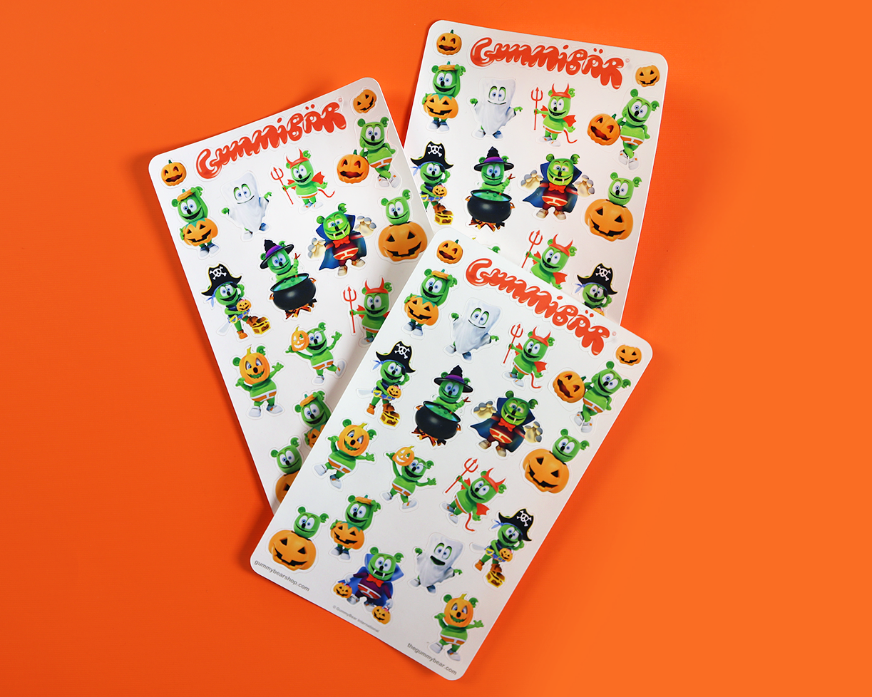 Gummibär (The Gummy Bear) Halloween Costume Stickers